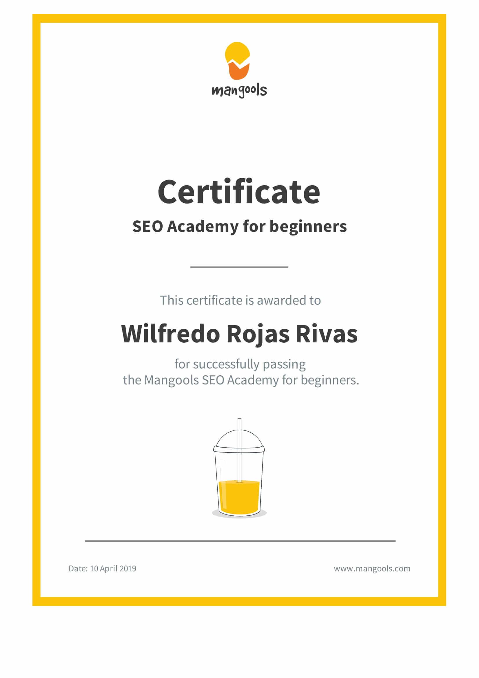 Certificacion mangools