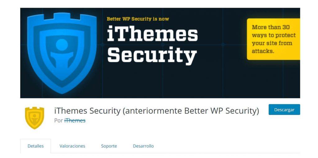 itheme security seguridad en wordpress
