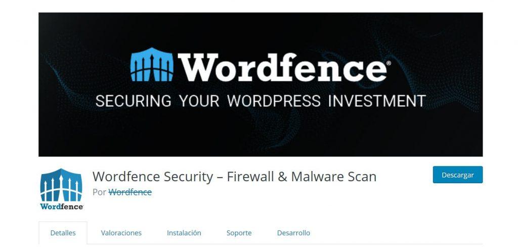 Wordfense seguridad en wordpress